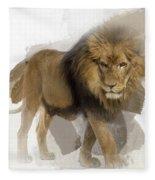 Lion Lion Lion Fleece Blanket