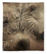 Lion Love Big And Small Fleece Blanket