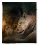 Lion Love Fleece Blanket
