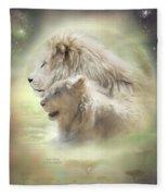 Lion Moon Fleece Blanket