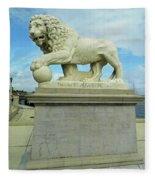 Lion On The North Side Fleece Blanket