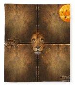 Lion Sun Fleece Blanket