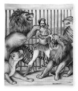 Lion Tamer, 1873 Fleece Blanket