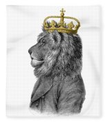 Lion The King Of The Jungle Fleece Blanket