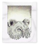 Lioness Rising Fleece Blanket