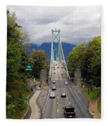 Lion's Gate Bridge Fleece Blanket