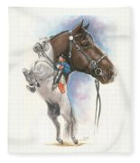 Lippizaner Fleece Blanket