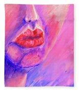 Lips Fleece Blanket