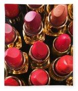 Lipstick Rows Fleece Blanket