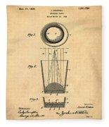 Liquershot Glass Patent 1925 Sepia Fleece Blanket