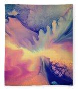 Liquid Abstract Nebula Fleece Blanket