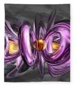 Liquid Amethyst Abstract Fleece Blanket