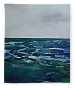 Liquid Blue No.4 Fleece Blanket