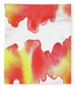 Liquid Fire Watercolor Abstract II Fleece Blanket