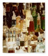 Liquor Bottles Fleece Blanket