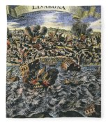 Lisbon Earthquake, 1755 Fleece Blanket