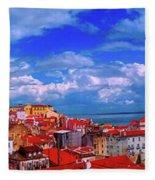 Lisbon Panorama Fleece Blanket