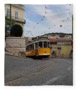 Lisbon Trolley 10 Fleece Blanket