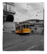Lisbon Trolley 10c Fleece Blanket