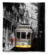 Lisbon Trolley 16c Fleece Blanket