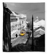 Lisbon Trolley 17c Fleece Blanket