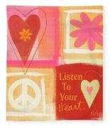 Listen To Your Heart Fleece Blanket