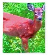 Listening Deer Fleece Blanket