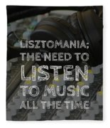 Lisztomania Fleece Blanket
