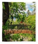 Lithia Park Bridge Fleece Blanket