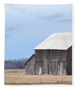 Little Barn On The Prairie  Fleece Blanket