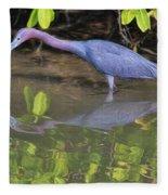 Little Blue Fishing Fleece Blanket