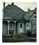 Little Blue House Fleece Blanket