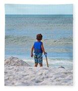 Little Boy Big Dreams Fleece Blanket