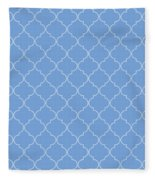 Little Boy Blue Quatrefoil Fleece Blanket
