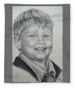 Little Boy Portrait Fleece Blanket