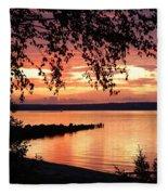 Little Breakwall Sunset Fleece Blanket