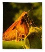 Little Brown Skipper Butterfly Fleece Blanket
