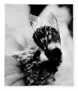 Little Bumble Bee Working For Dinner Fleece Blanket