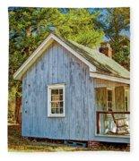 Little Cabin In The Country Pine Barrens Of New Jersey Fleece Blanket