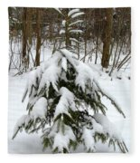 Little Christmas Tree Fleece Blanket