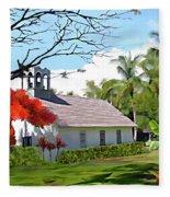 Little Church At Puako Big Island Fleece Blanket