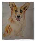 Little Corgi Fleece Blanket