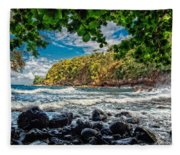Little Cove On Hawaii' Fleece Blanket
