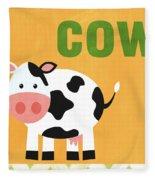 Little Cow Fleece Blanket