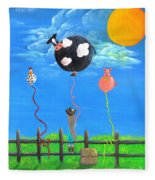 Little Cowgirl Fleece Blanket