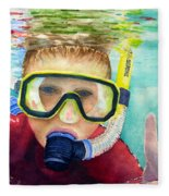 Little Diver Fleece Blanket
