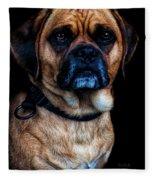 Little Dog Big Heart Fleece Blanket