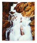Little Firehole Falls Fleece Blanket