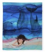 Little Girl Painter II Fleece Blanket