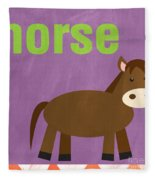 Little Horse Fleece Blanket